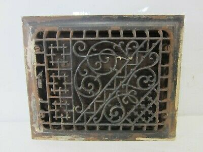Antique 1886 Tuttle & Bailey Floor Grate w/Damper- Aesthetic Design  ASG#32
