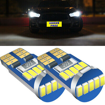 2Ps For Nissan Micra K11 15-SMD LED Error Free Canbus Side Light Parts W5W Bulbs