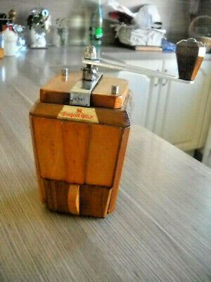 Ancien Superbe Moulin A Cafe Peugeot Ric En Noyer- Modele Luxe-Logo D'originee