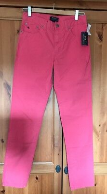 Ralph Lauren Polo Pink Chino Trousers Age 16 Boys Girls Unisex Bnwt Rrp £69.99