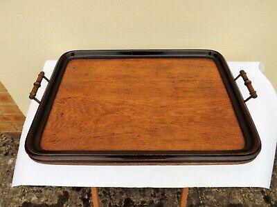 Stunning Original Antique Wooden Oak Butlers Serving Tray