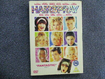 Hairspray, Zac Efron,Uk dvd,superb! Includes fast post :)