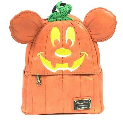Disney Parks Halloween Mickey Mouse Pumpkin Mini Backpack Loungefly