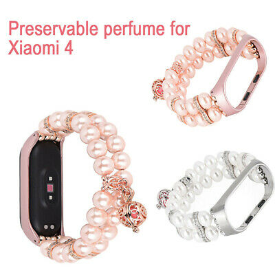 Suitable For Xiaomi Mi Band4 Bracelet Pearl Perfume Wristband Metal Shell Strap