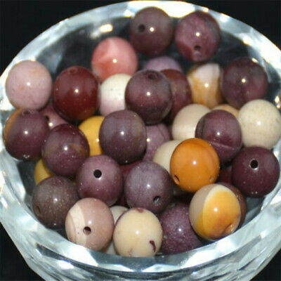 DIY Wholesale Natural Gemstone Round Spacer Mocha Color Beads Jewelry Making 8MM