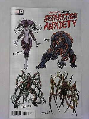 Absolute Carnage Separation Anxiety #1 Brian Level 1:10 Design Variant Cover