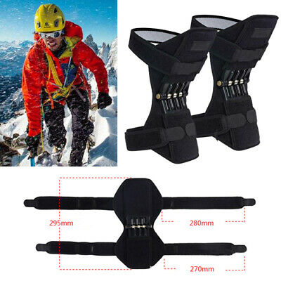 Pair Patella Booster Spring Knee Brace Support Mountaineering Squat Sport Gym UK