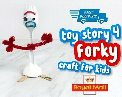 Toy Story 4 Forky Make Your Own Forkie Kit DIY GIFT Summer kids █ UK Stock █