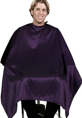 "(Set of 6) BLACK Salon & Barber Hair Cutting Capes 50"" X 60"" BEST in Industry"