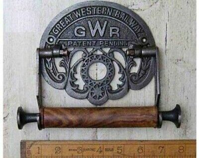 GWR ANTIQUE IRON TOILET ROLL HOLDER- 6 x 8 inches