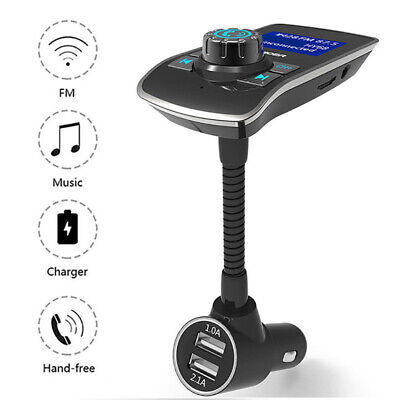 Bluetooth Car Wireless FM Transmitter MP3 Radio Adapter Car Kit 2 USB Charger