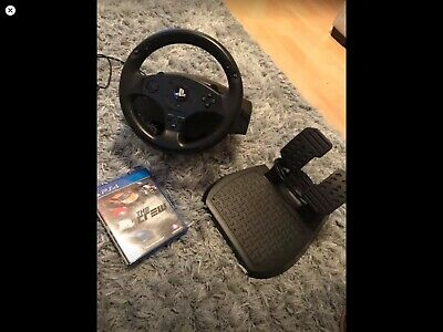 PS4 Steering Wheel and Pedals Including Game The Crew