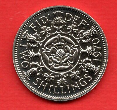 1970 Proof Florin Coin. Two Shillings. Final Year For Uk Pre-Decimal Coinage.