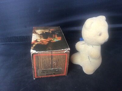 Rare Vintage Collectable Boxed Avon Scent Bottle Sweet Honesty Fuzzy Teddy Bear