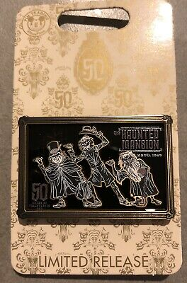 Disney The Haunted Mansion 50th Anniversary Hitchhiking Ghost Logo Pin LE