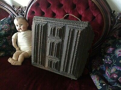Antique Real NC Tramp Art Mailbox Out Of Grandma's Attic Chip Carving