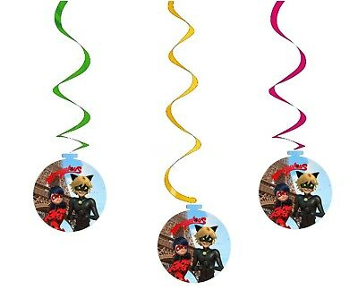 Miraculous Ladybug Party Birthday Decorations Spiral Lady Bug Party Supplies