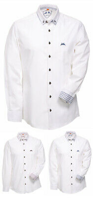Maddox Traditional Shirt Kavi - White - Men's for Oktoberfest Wedding Kirchweih