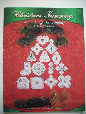 Christmas trimmings ornaments  Hardanger Embroidery  pattern booklet
