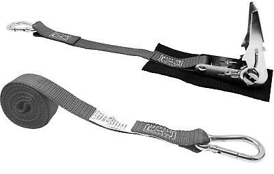 CTD 1 Inch x 8 Foot Stainless Steel Ratchet Strap with Carabiners & Pro Pad.4180