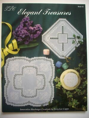 Elegant Treasures  Hardanger Embroidery  pattern booklet