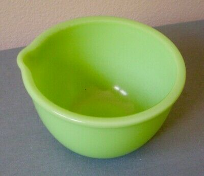 "Vintage FIRE KING Jade-ite Green Milk Glass 6"" Mixing Bowl Oven Ware HEAVY"