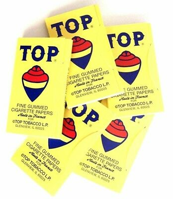 5 x TOP Cigarette Rolling Paper 100 Papers per Booklet - Free Express Shipping