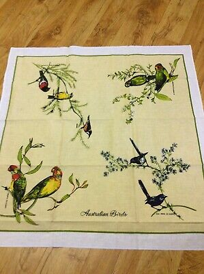 Vintage Collectable Australian Birds Supper Tablecloth
