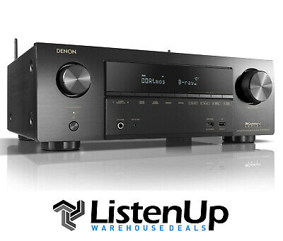 Denon AVR-X1500H 7.2 Channel 4K Receiver w/ Wi-Fi, Airplay 2, Heos and Alexa