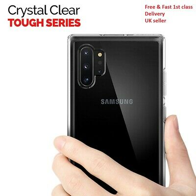 CLEAR Case For Samsung Galaxy Note 10 Plus 5G Silicone Gel Shockproof TOUGH