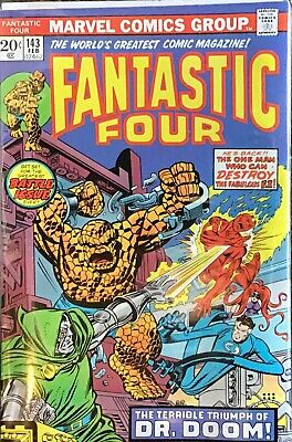 FANTASTIC FOUR (1961) #143  DR.DOOM,Mark Jewelers Conway Buckler NM SEE IMAGES