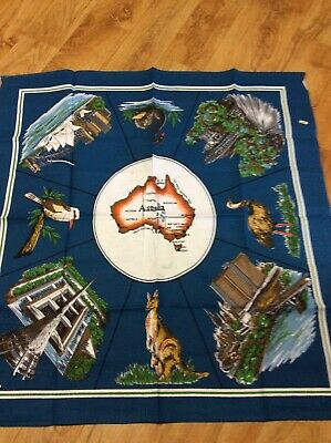 Vintage Collectable Australian  Supper Tablecloth