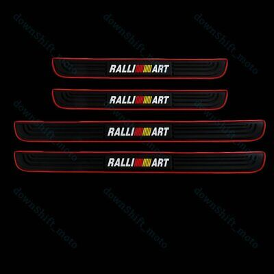 For Mitsubishi RALLIART Rubber Car Door Scuff Sill Cover Panel Step Protector X4