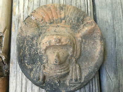 Estate - Round Head (Calender) Pre Columbian Heads Aztec Mayan Olmec Mexican