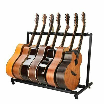 3/7/9 Way Multi Guitar Rack Padded Holder Ukulele Stand Electric Acoustic Bass