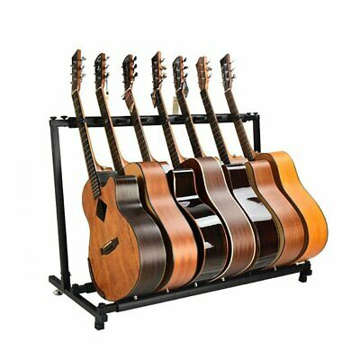 New 7 way guitar stand Multi Rack Stand Padded Electric Acoustic Bass Holder