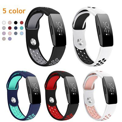 For Fitbit Inspire / HR Colorful Soft Silicone Watch Strap Wristband Replacement