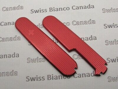 Swiss Bianco Red Alox Scales for Victorinox 91mm Swiss Army Knife