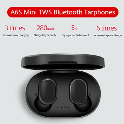 reduction Handsfree  Bluetooth 5.0 Wireless Earbuds A6S Mi Airdots TWS Earphone