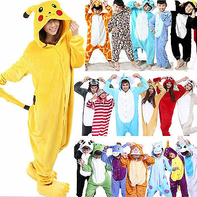 Animal Kids Adult Kigurumi Cosplay Costume Pyjamas Jump Suit Sleepwear