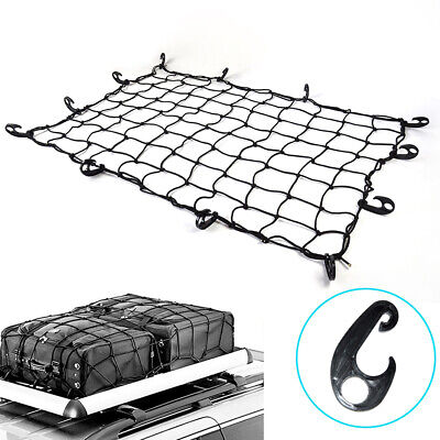 Universal Car Heavy Duty Rooftop Cargo Net Trunk Organizer Elastic Holder Mesh