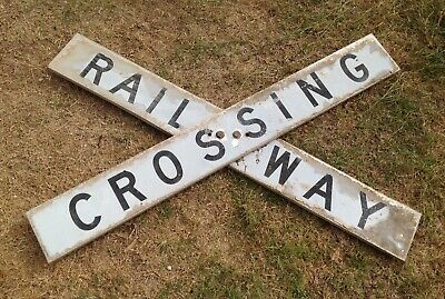 Genuine Fullsized Railway Crossing Sign