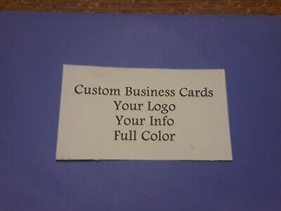 Custom Full Color Business Cards 250 Cards Free Shipping