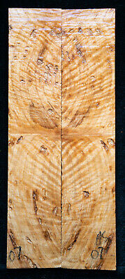 """Asian Satinwood Burl #07 Knife Scales 7""""x1.4""""x 5/16"""""""