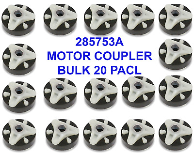 for Whirlpool Kenmore NEW Metal Insert 285753A 4 Pack Washer Motor Coupler