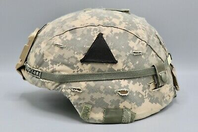 ORIGINAL US ARMY Enhanced Combat Helmet ECH with IDed ACU Cover Large 159th  Inf