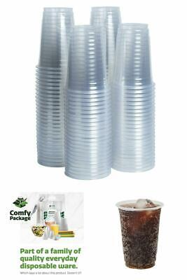 Crystal Clear PET Disposable Plastic Cups For Any Occasion 100 Pack