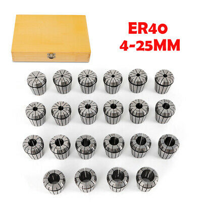 ER40 Precision Collect Chuck Set Of 22Piece 4/5/6/7/8/9/10-25mm Collect ChuckNew