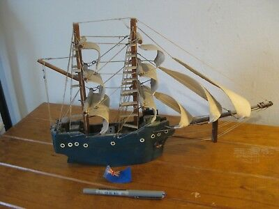 Vintage Model Ship (Exquisite) VG Condition (Mid Century At Latest) Wood