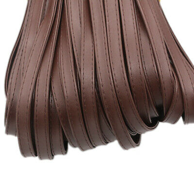5M Faux PU Leather Flat Cord Strap Rope String Tape DIY Craft Material Fabric